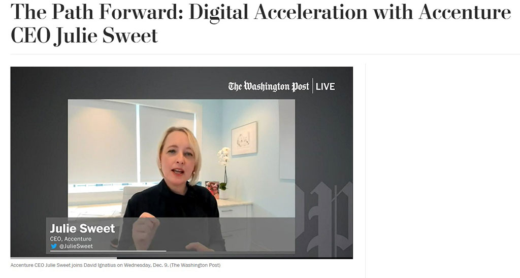 Digital acceleration as described by Julie Sweet, CEO of Accenture [frame from video]
