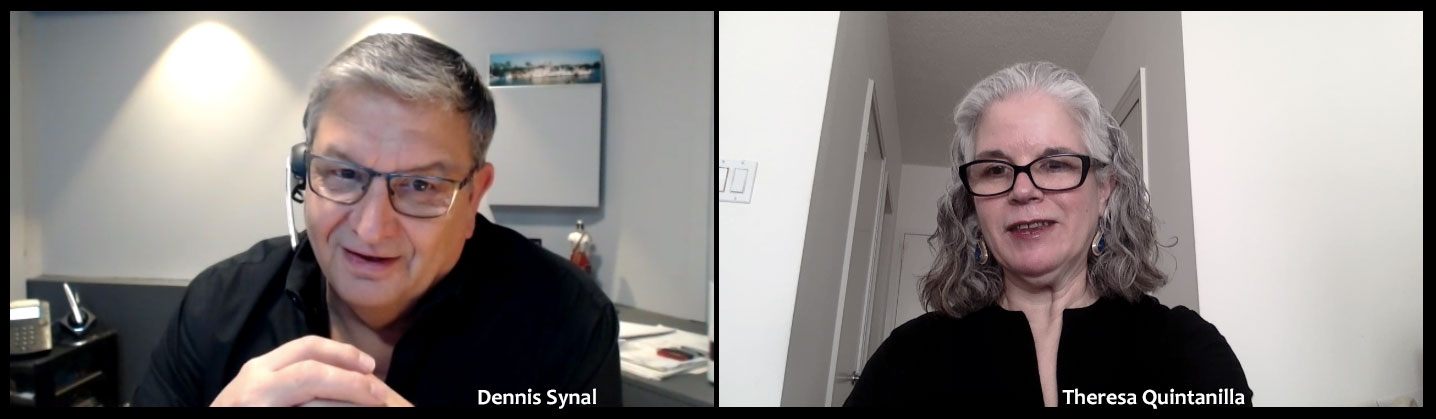 [image of Dennis Synal and Theresa Quintanilla on Zoom call]