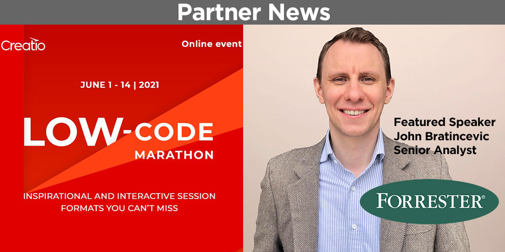 Creatio online event for low-code technology