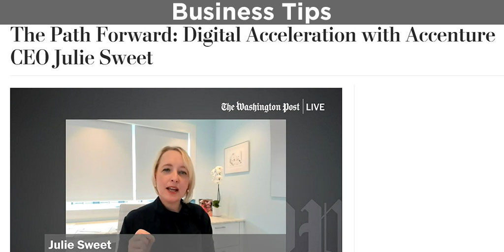 Digital acceleration recommended by Accenture CEO Julie Sweet