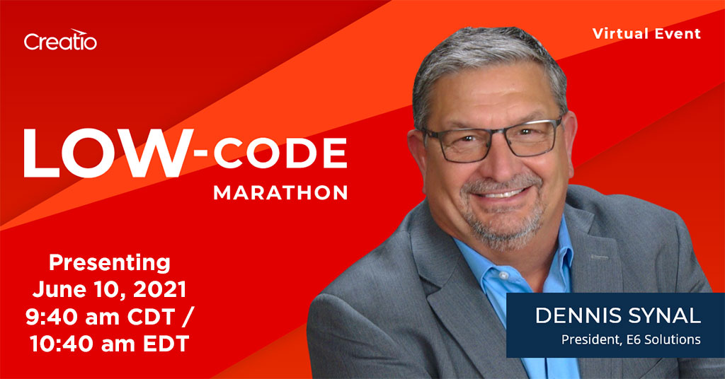 Dennis Synal appears at Creatio Low-code marathon June 10th