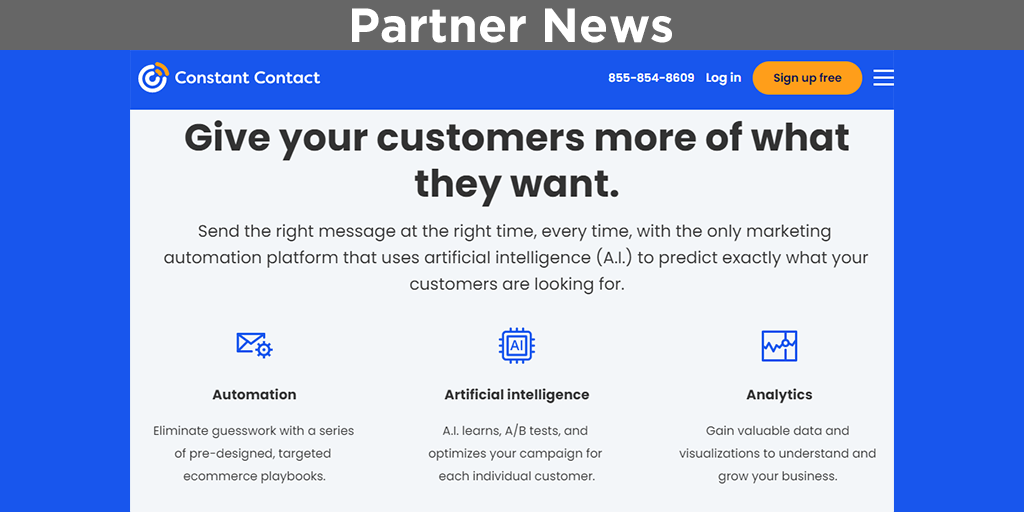 Artificial Intelligence in Email Marketing with Constant Contact