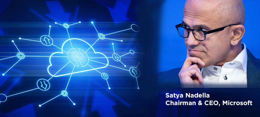 Tech intensity is a phrase created by Satya Nadella, CEO of Microsoft [image]