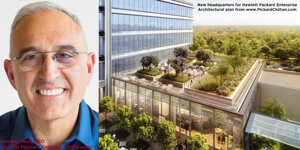 Antonio Neri and HPE future headquarters [images]