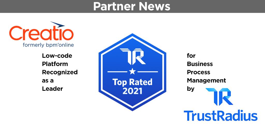 TrustRadius top-rates Creatio BPM