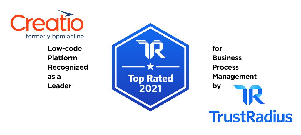 TrustRadius top-rates Creatio for BPM
